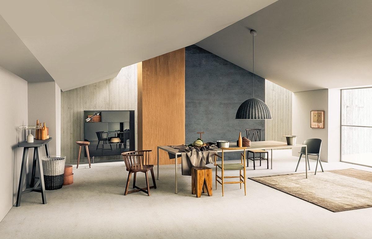mẫu thiết kế nội thất phòng ăn phong cách công nghiệp