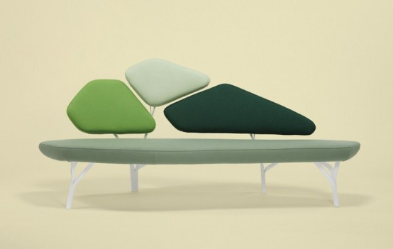 Chiếc sofa tựa như một khóm cây xanh sẽ mang lại vẻ đẹp vui mắt và ấn tượng cho căn phòng nhà bạn.
