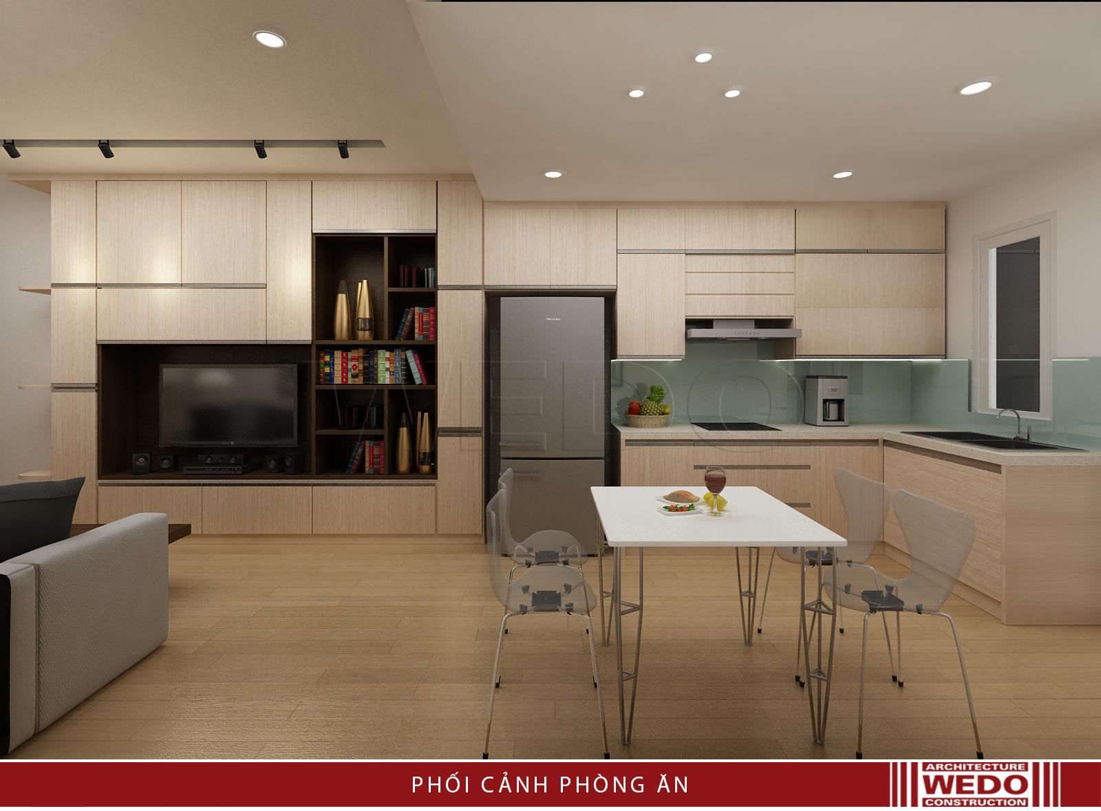 Nội thất phòng ăn chung cư VP5 - Linh Đàm