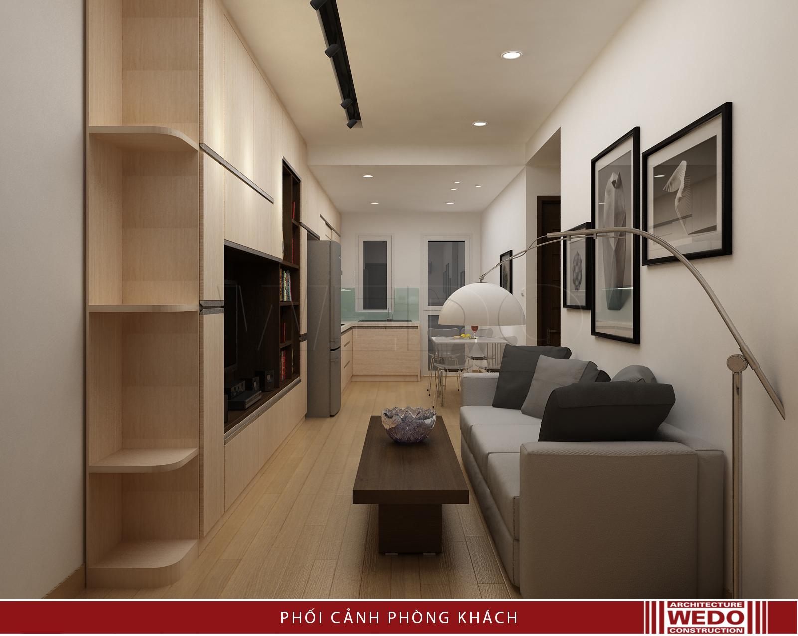 Nội thất phòng khách chung cư VP5 - Linh Đàm