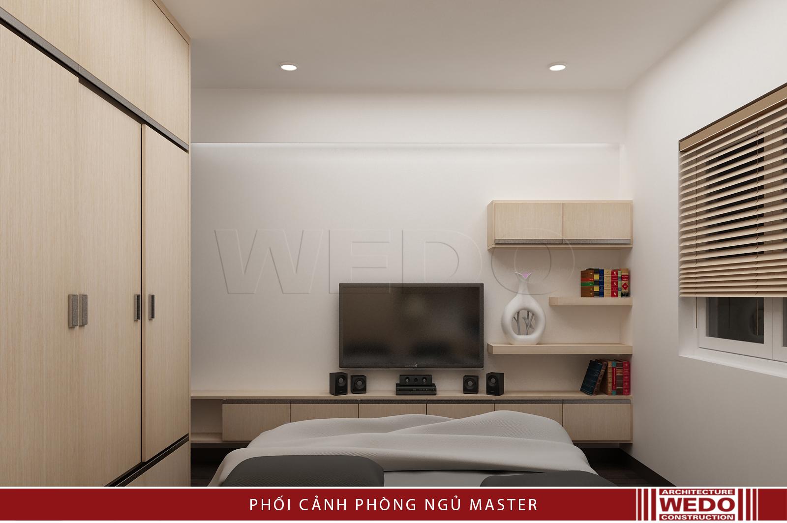 Nội thất phòng ngủ bố mẹ chung cư VP5 - Linh Đàm