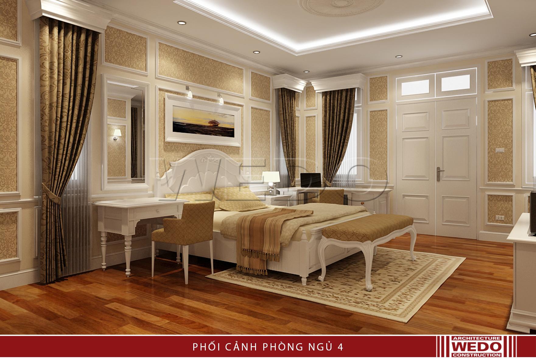 Nội thất phòng ngủ biệt thự Linh đàm