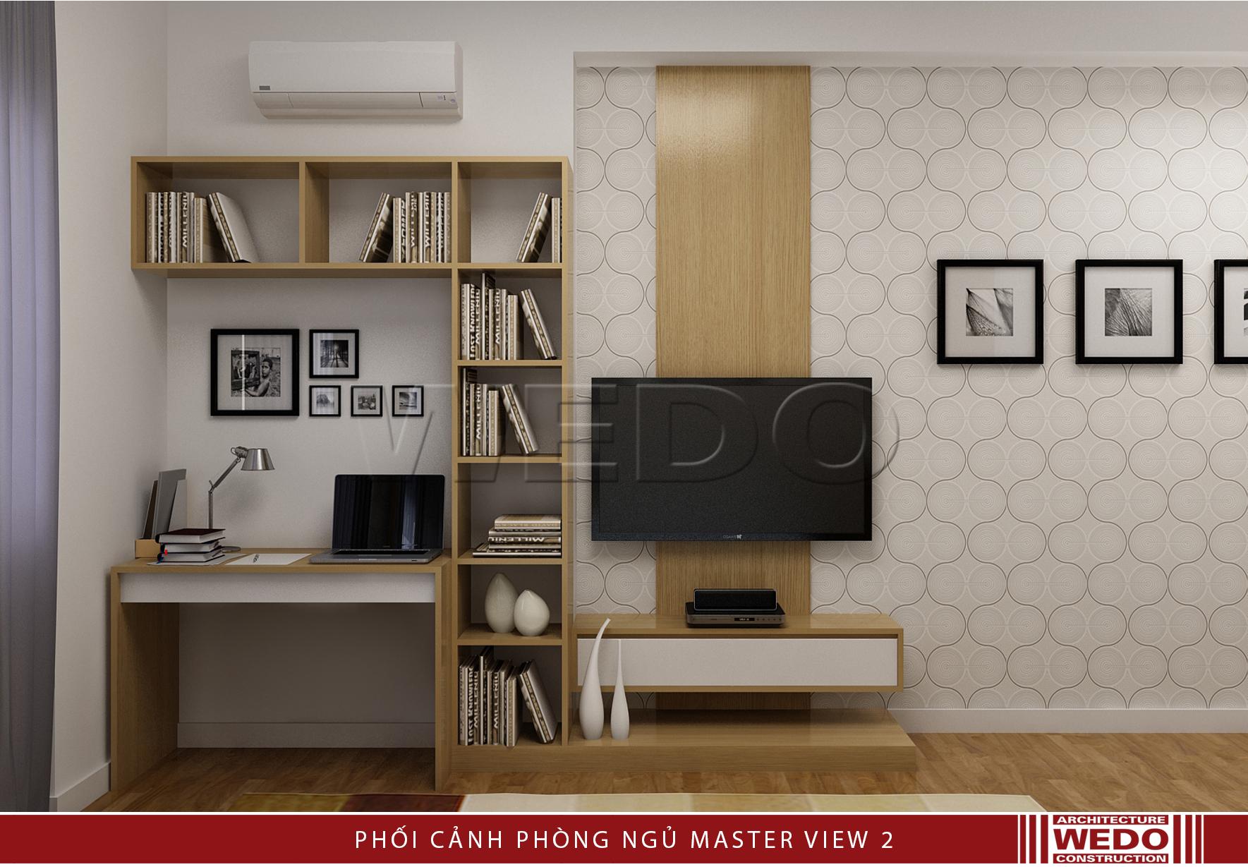Nội thất phòng ngủ master chung cư Alphanam