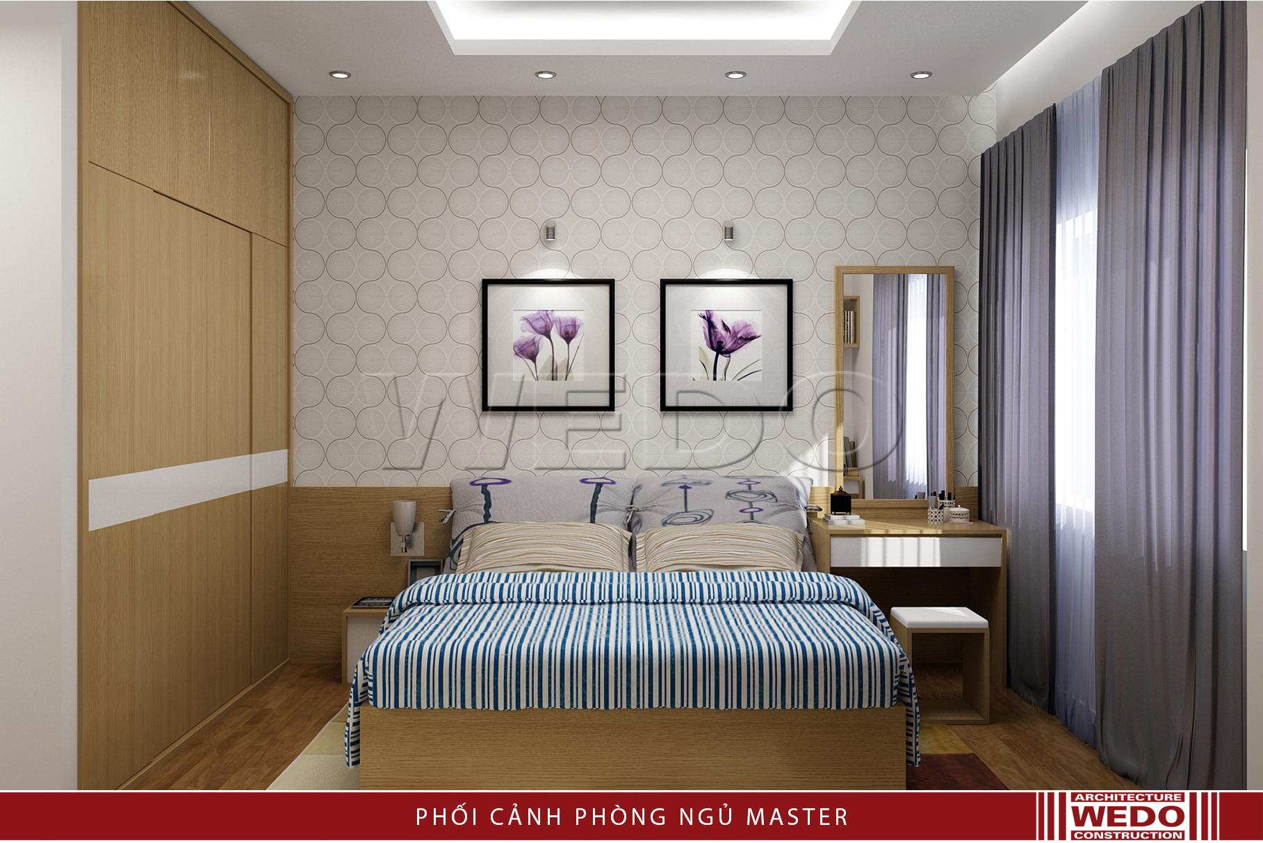 Nội thất phòng ngủ master chung cư Alphanam - 47 Vũ Trọng Phụng