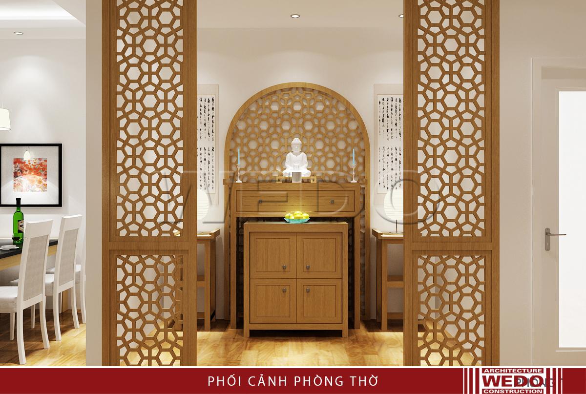Thiết kế nội thất không gian thờ - Chung cư