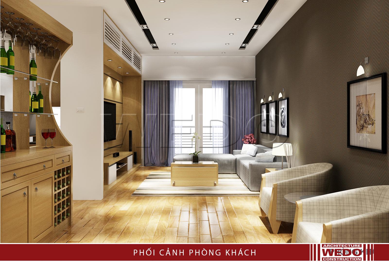 Thiết kế nội thất phòng khách - Chung cư