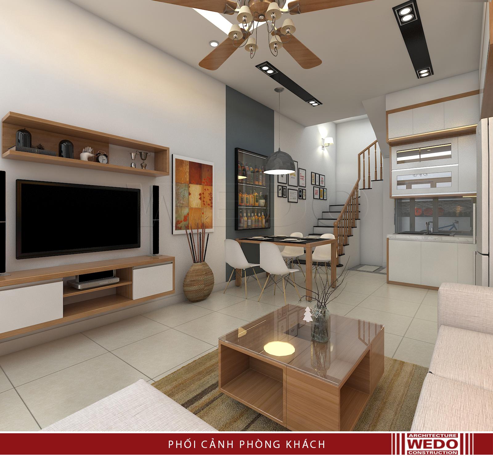 Thiết kế Nội thất phòng khách - nhà phố