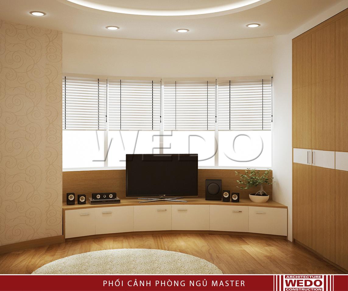 Thiết kế nội thất phòng ngủ master - Chung cư