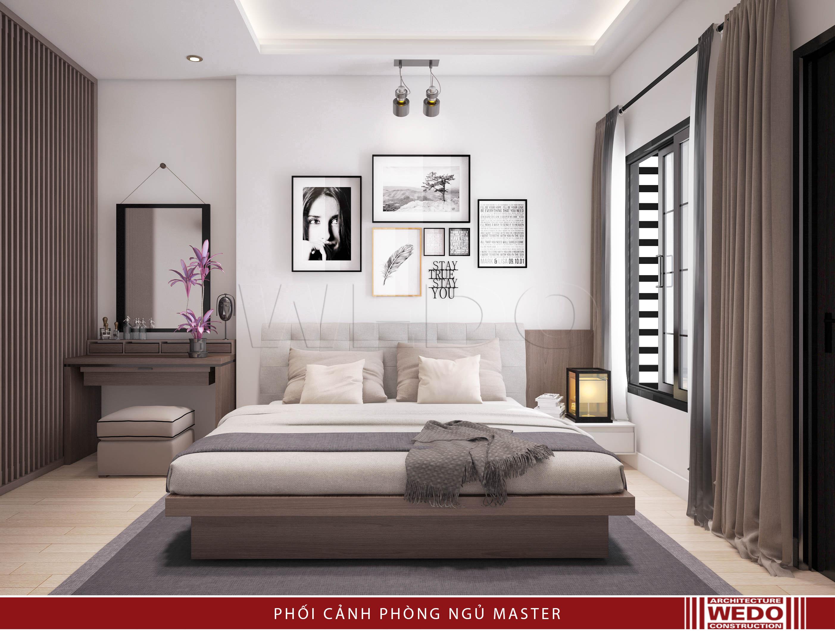 Nội thất phòng ngủ bố mẹ - phố Quan Hoa - Cầu giấy