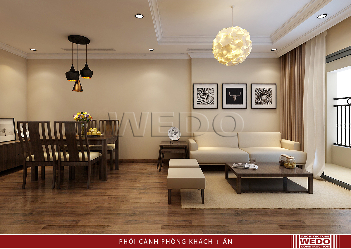 Thiết kế nội thất Phòng khách Vinhomes Nguyễn Chí Thanh