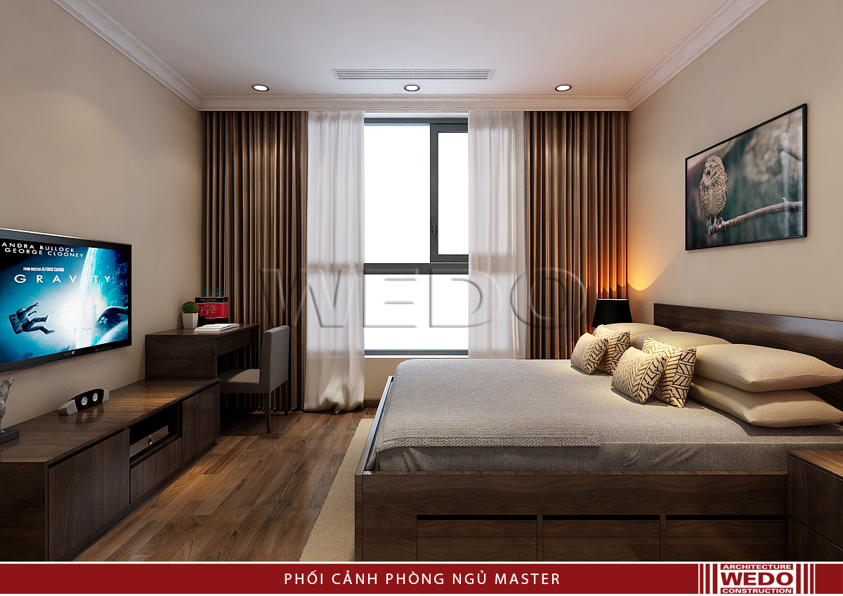 Nội thất phòng ngủ master - Vinhomes Nguyễn Chí Thanh