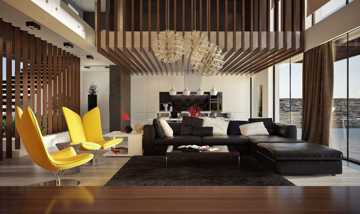 Không gian phòng khách cao hun hút với bí quyết thiết kế nội thất tuyệt vời này