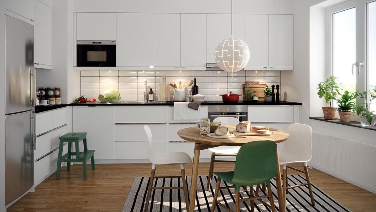 50 Mẫu nội thất nhà bếp & phòng ăn đẹp theo phong cách chiết trung Bắc Âu