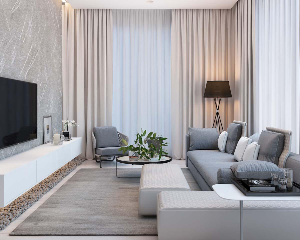 Thiết kế thi công nội thất đơn giản và hiện đại cho căn hộ chung cư