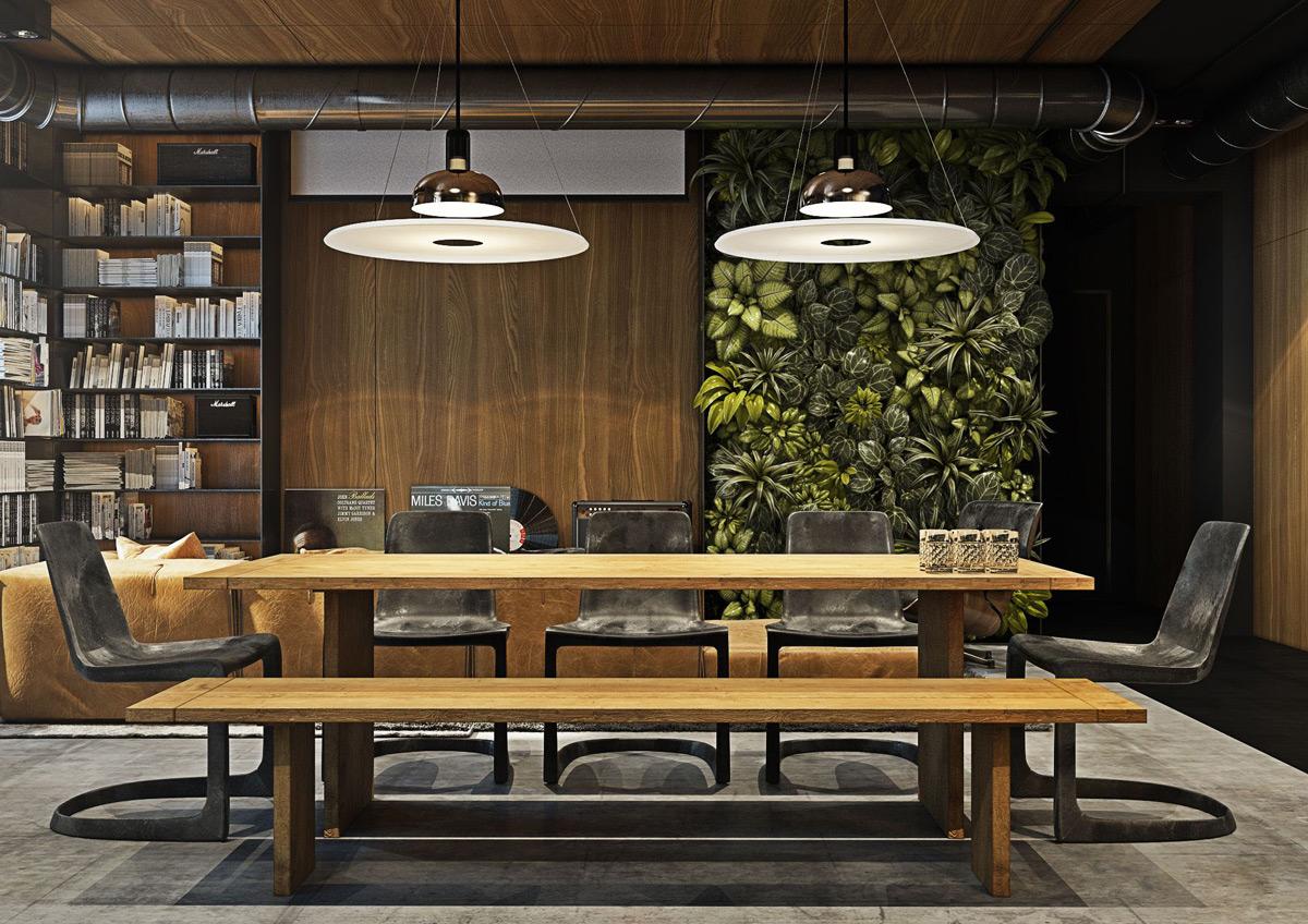 Nhấn nhá cho nhà đẹp với nội thất phòng ăn phong cách công nghiệp