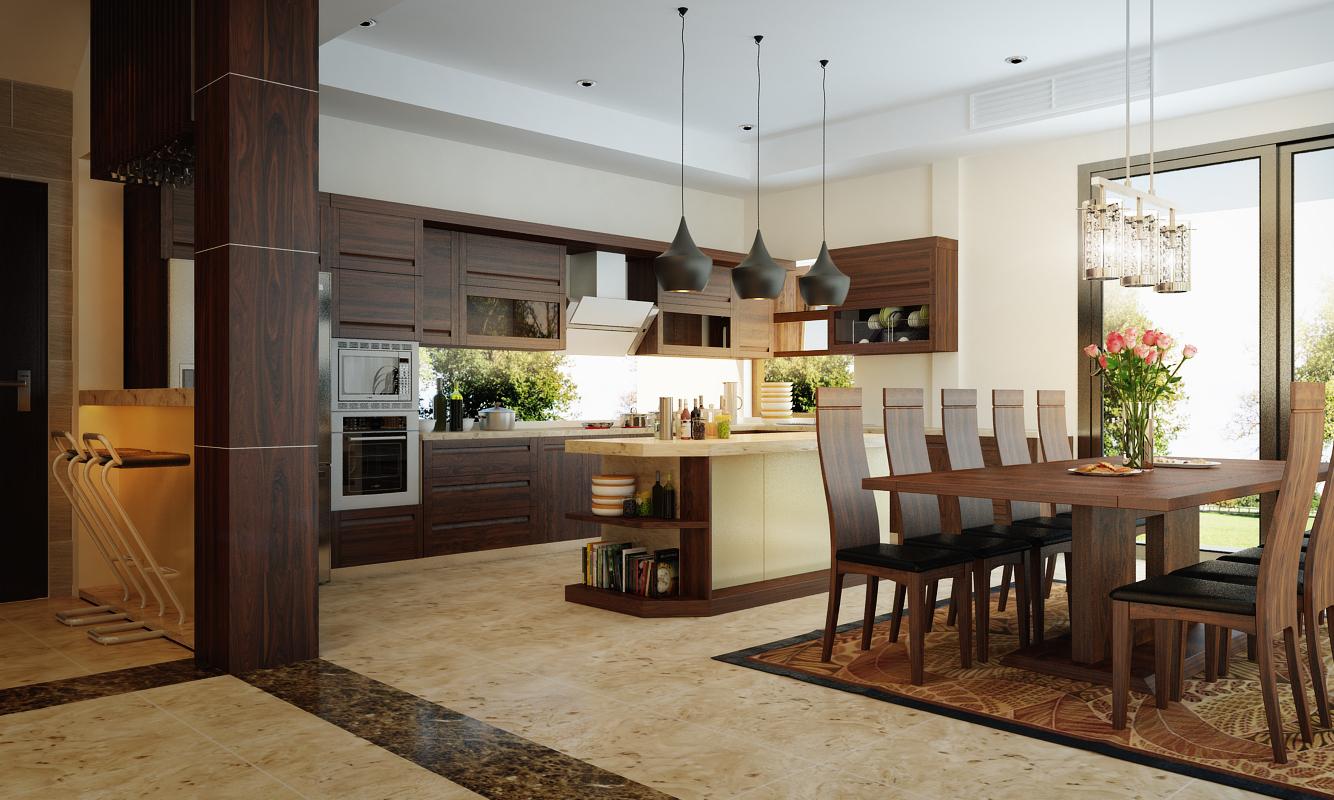 Mẫu nội thất gỗ tự nhiên đẹp và đẳng cấp cho biệt thự