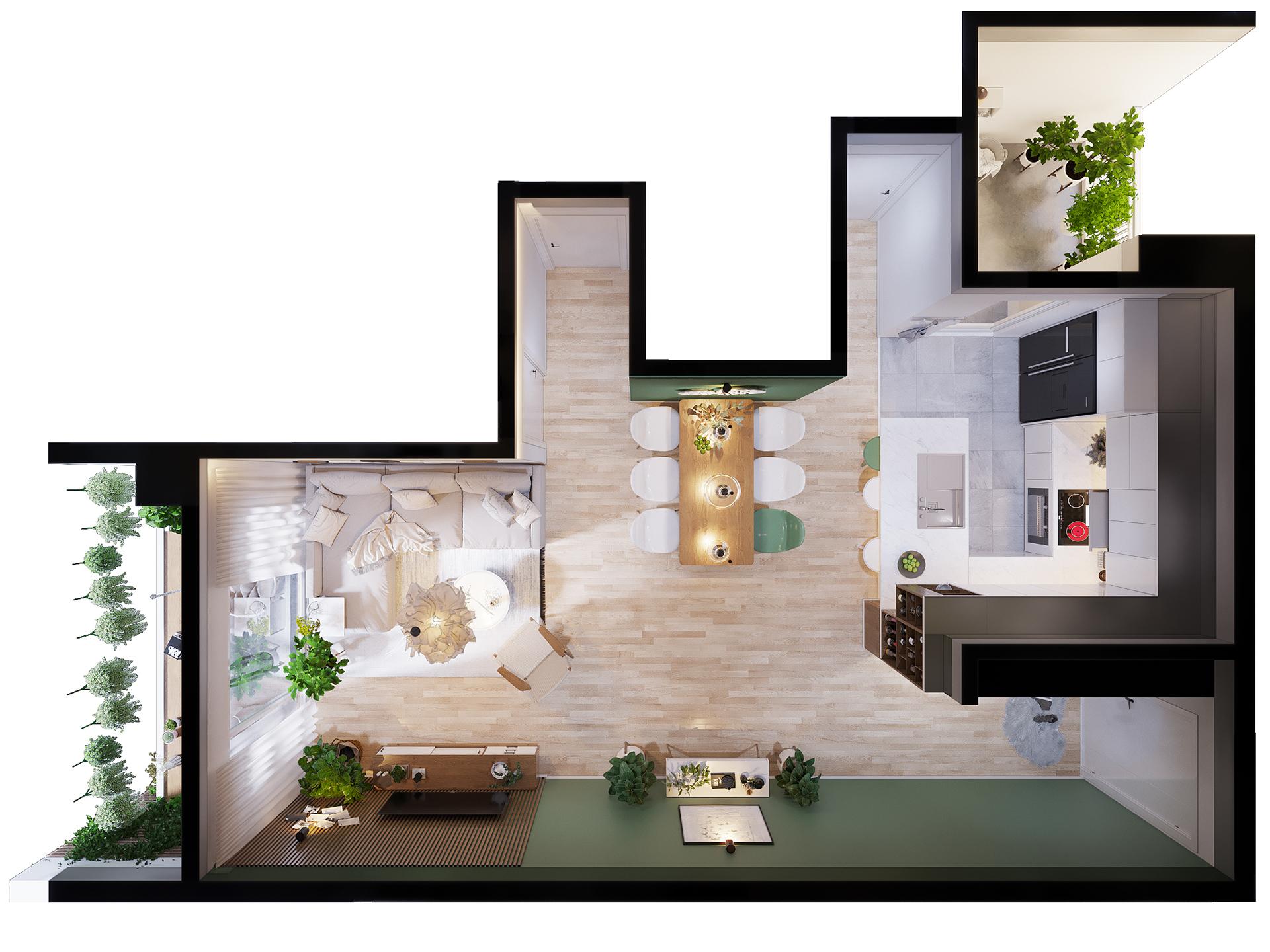 Mẫu thiết kế nội thất nhà đẹp phù hợp cho gia đình có con nhỏ