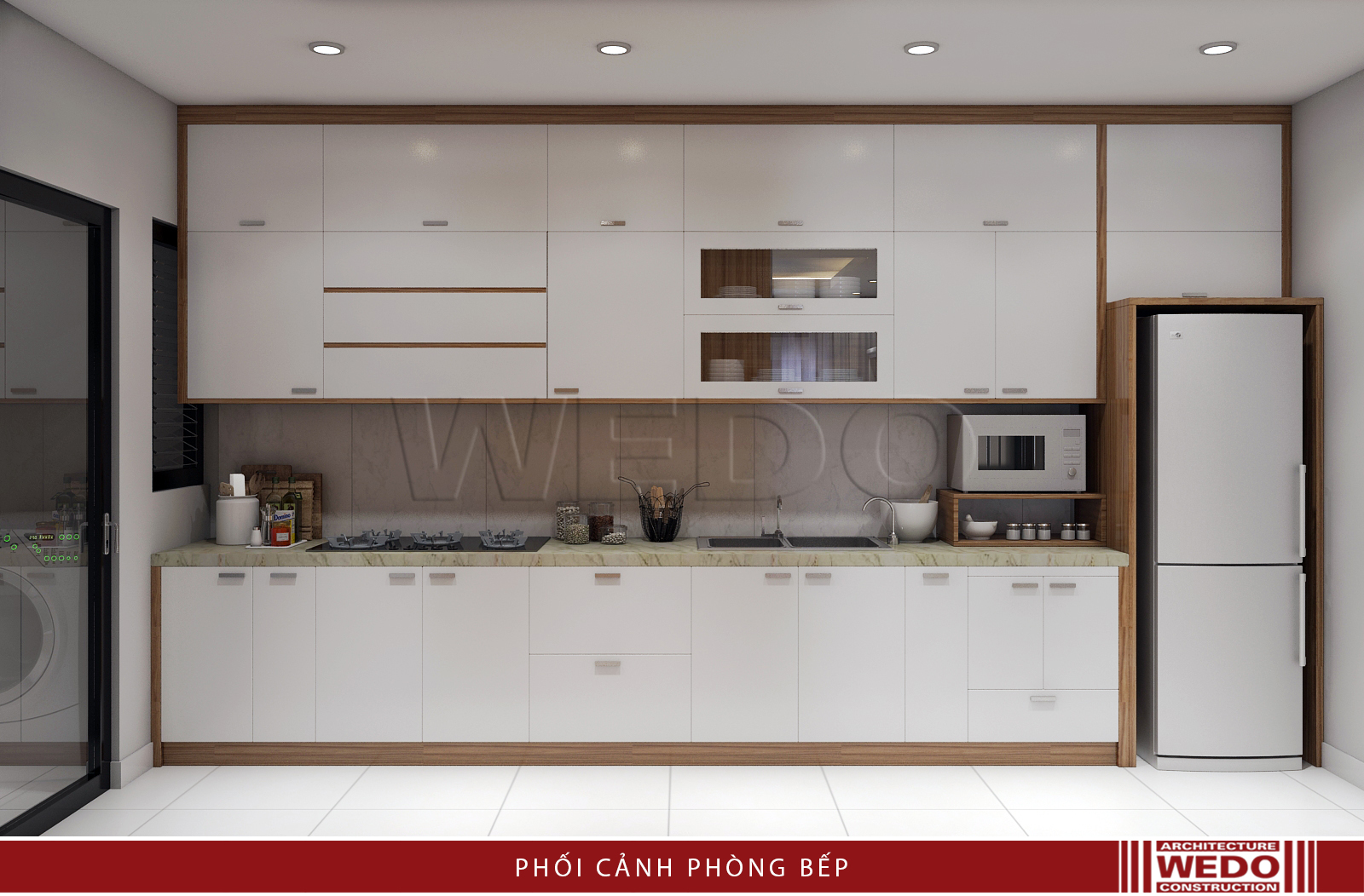 Thiết kế nội thất phòng bếp chung cư Mulberry Lane