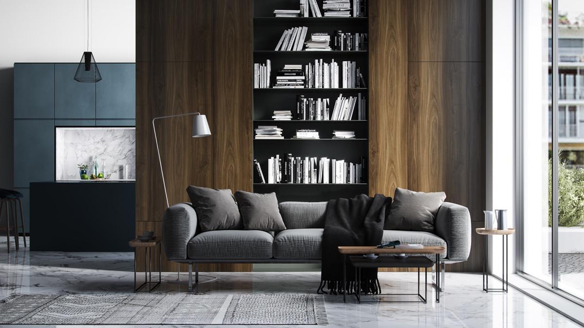 Mẫu thiết kế phòng khách đẹp cho người có niềm đam mê bất tận với sách