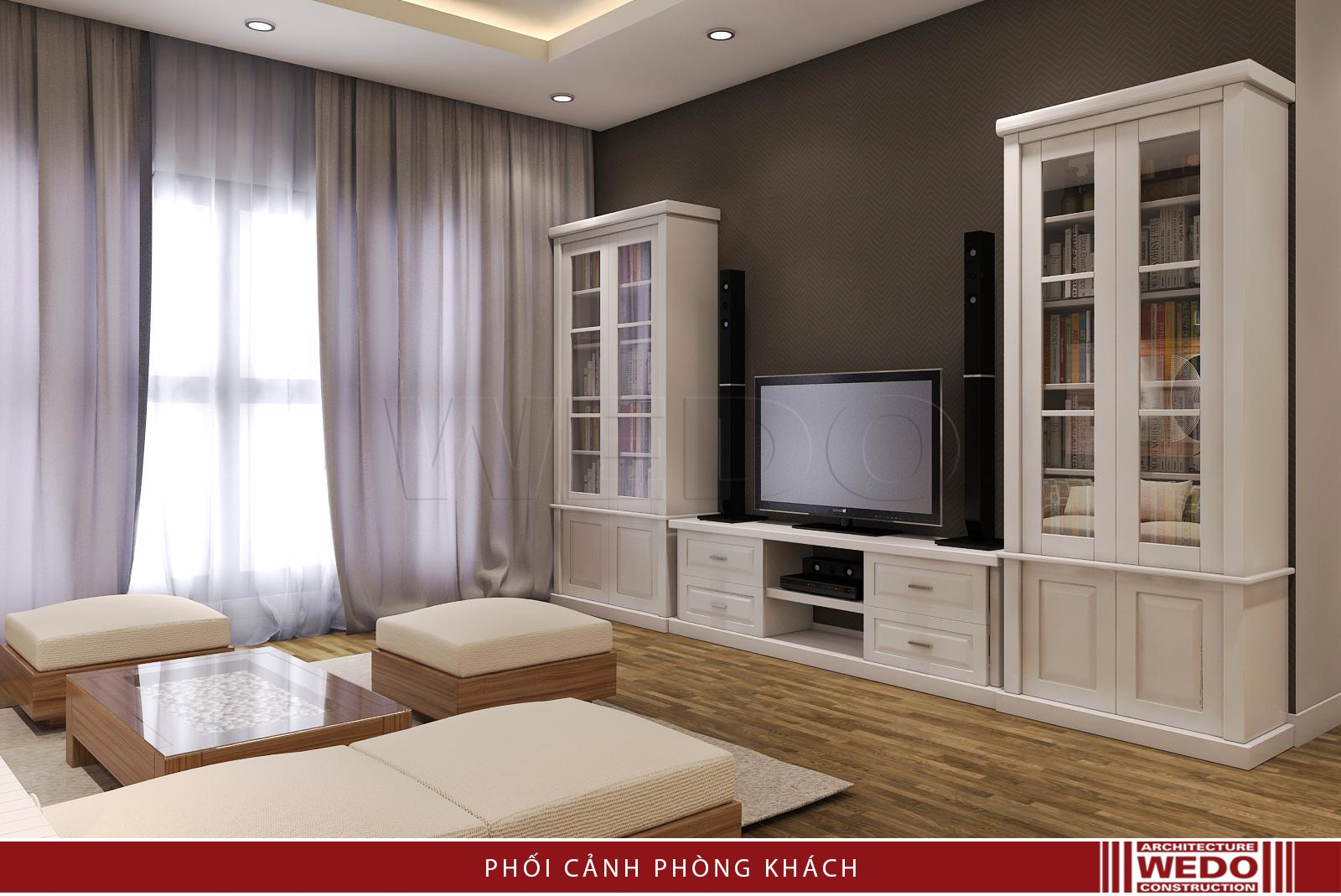 Thiết kế nội thất phòng khách chung cư Mulberry Lane